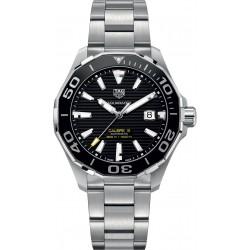 TAG Heuer AQUARACER Calibre 5 Reloj automático 300 M - ∅43 mm Bisel de cerámica, Esfera negra, Acero