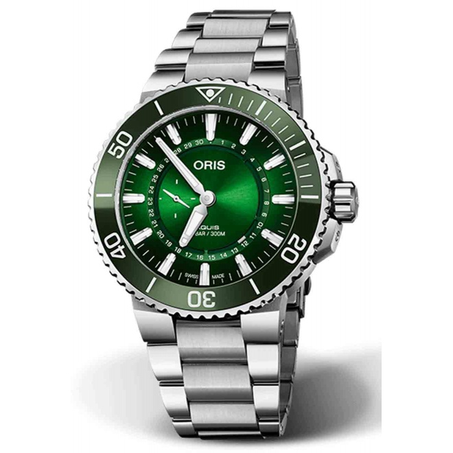 ORIS HANGANG LIMITED EDITION 300 M ∅43,5 mm, Esfera verde, Acero