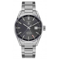 TAG Heuer Carrera Calibre 7 Twin Time 100 M - ∅41 mm Esfera gris Acero