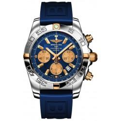 Breitling Chronomat 44 Esfera Azul Contadores Dorados