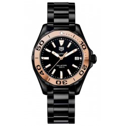 TAG Heuer Aquaracer Lady 300 M - ∅35 mm Ceramic & Gold