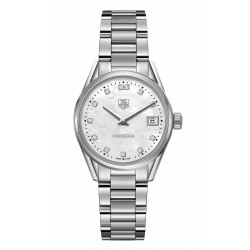 TAG Heuer Carrera Lady 100 M - ∅32 mm Diamantes esfera nácar, acero