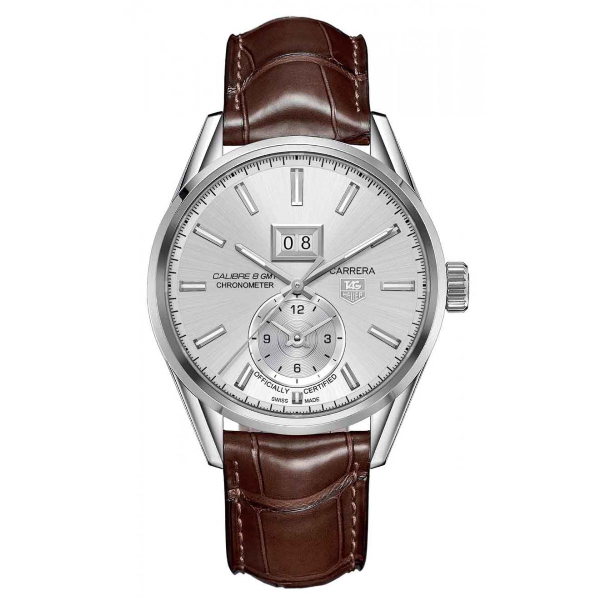 CARRERA Calibre 8 GMT Reloj automático 100 M - ∅41 mm Correa Piel