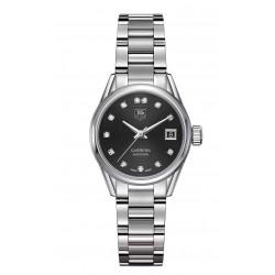 TAG Heuer Calibre 9 Reloj automático 100 M - ∅28 mm Diamantes Esfera Negra