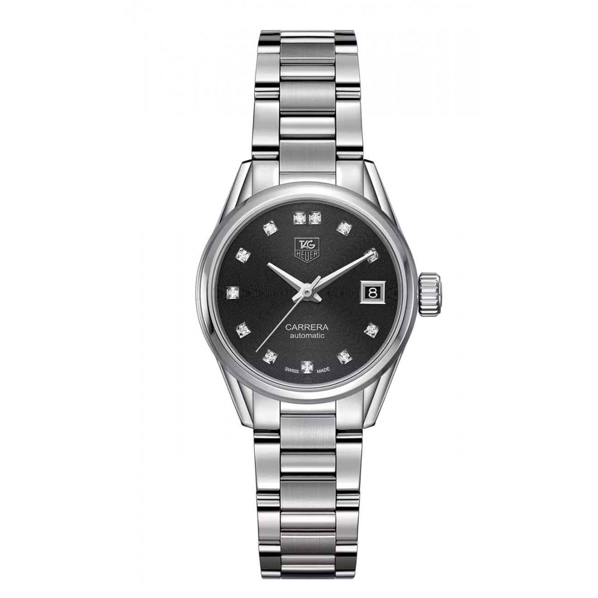 Calibre 9 Reloj automático 100 M - ∅28 mm Diamantes Esfera Negra