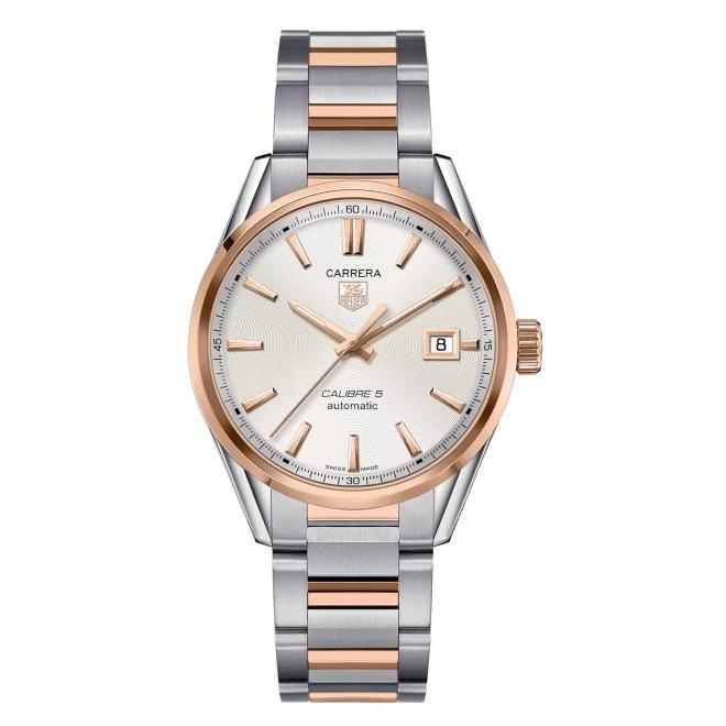 Calibre 5 Reloj automático 100 M - ∅39 mm Acero y oro rosa
