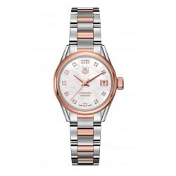 CARRERA Lady Calibre 9 Reloj automático 100 M - ∅28 mm Acero y oro rosa Diamantes