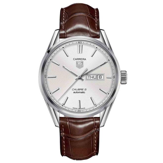 Calibre 5 Day-Date Reloj automático 41 mm Esf Blanca Piel
