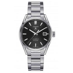 TAG Heuer CARRERA Calibre 5 Reloj automático 100 M - ∅39 mm, Esfera negra, Acero