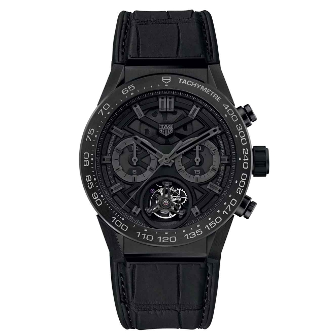 CARRERA Calibre Heuer 02 T Cronógrafo 100 M - ∅45 mm Black Phantom Titanium