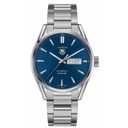 TAG Heuer CARRERA Calibre 5 Day-Date Reloj automático 100 M - ∅41 mm, Esfera azul, Acero