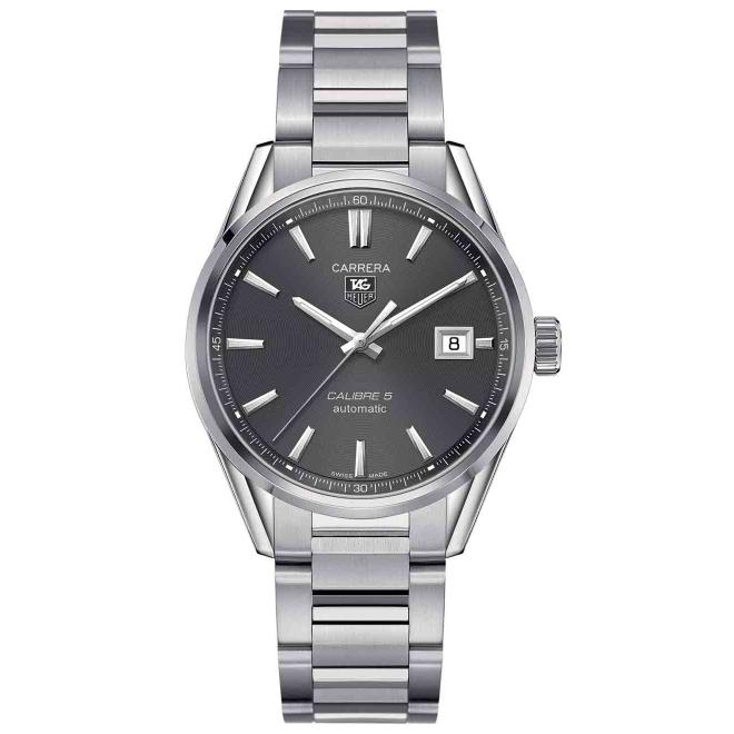 CARRERA Calibre 5 Reloj automático 100 M - ∅39 mm, Esfera gris, Acero