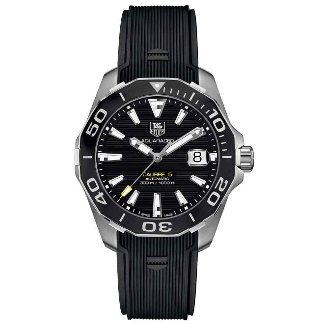 AQUARACER Calibre 5 Reloj automático 300 M - ∅41 mm, Esfera negra, caucho