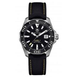 TAG Heuer Calibre 5 Reloj automático 300 M - ∅41 mm Bisel de cerámica, Esfera negra, Nilon