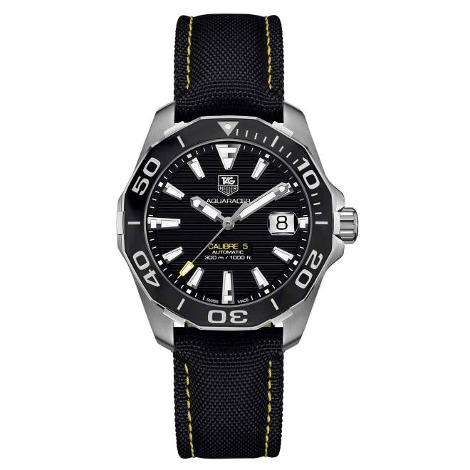 Calibre 5 Reloj automático 300 M - ∅41 mm Bisel de cerámica, Esfera negra, Nilon