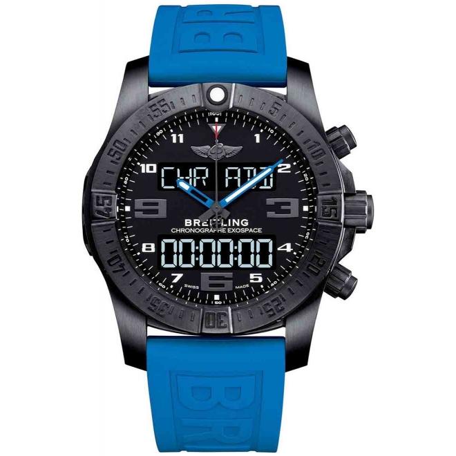 Exospace B55 Titanio Caucho Azul 46mm