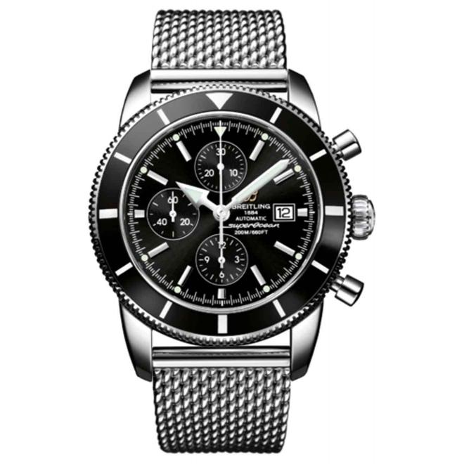 Breitling Superocean Héritage Chronograph 46 - 200 M - ∅46 mm, Esfera negra, Acero