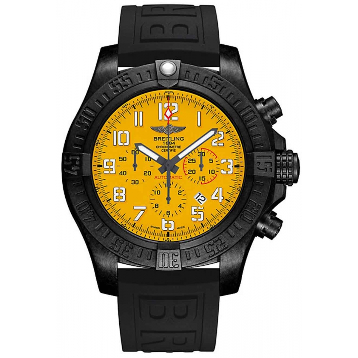 Breitling Hurricane - 100 M - ∅50 mm, Esfera Cobra Yellow, Caucho