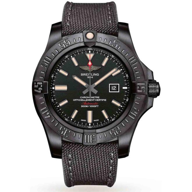 Breitling Avenger Blackbird - 300 M - ∅48 mm, Esfera Negra, Military