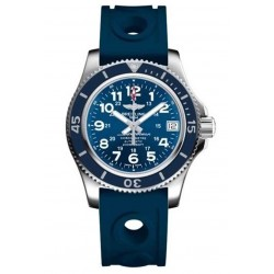Breitling Superocean II 36 - 200 M - ∅36 mm, Esfera azul, Caucho