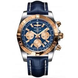 Breitling Chronomat 44 - 500 M - ∅44 mm, Esfera Azul, Cocodrilo Azul