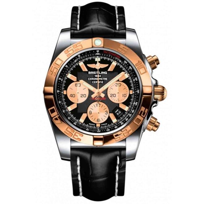 Breitling Chronomat 44 - 500 M - ∅44 mm, Esfera Negra, Cocodrilo