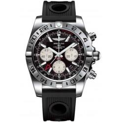 Breitling Chronomat 44 GMT - 200 M - ∅44 mm, Esfera Negra, Caucho