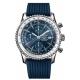 Breitling Navitimer World - 3 Bares - ∅46 mm, Esfera azul, Caucho