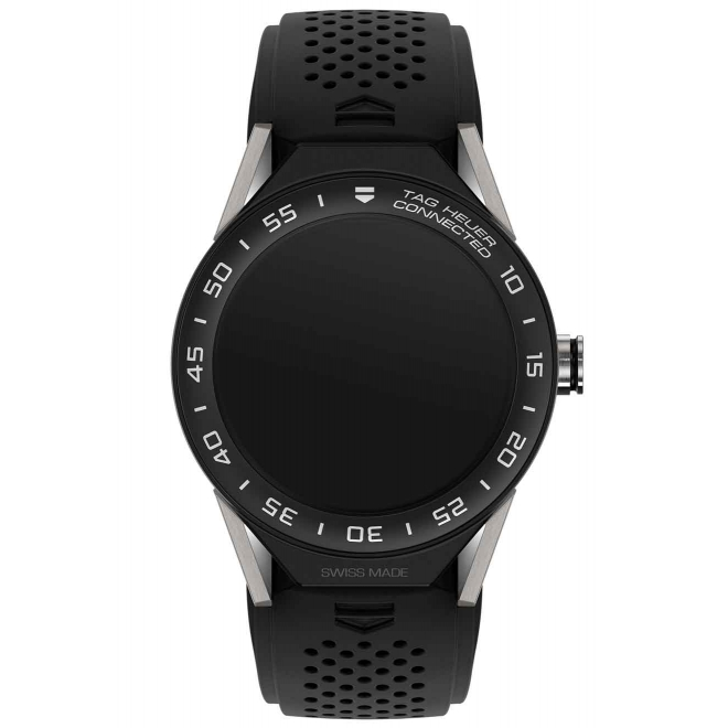 TAG HEUER CONNECTED MODULAR 45 50 M - ∅45 mm Caucho negro con bisel de cerámica negra mate