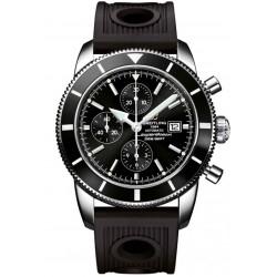 Breitling Superocean Héritage Chronograph 46 - 200 M - ∅46 mm, Esfera negra, Caucho Ocean Racer