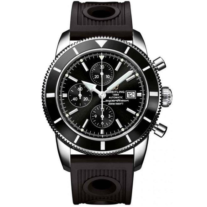 Breitling Superocean Héritage Chronograph 46 - 200 M - ∅46 mm, Esfera azul, Caucho Ocean Racer