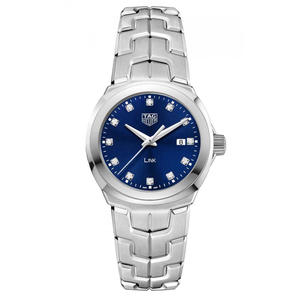 TAG HEUER LINK Quartz 100 M - ∅32 mm, Esfera azul diamantes, acero