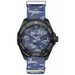 TAG HEUER AQUARACER Calibre 5 Reloj automático 300 M - ∅43 mm, Esfera azul camuflaje, correa NATO